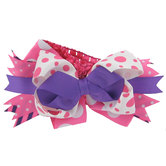 Headband with Pink & Purple Bow